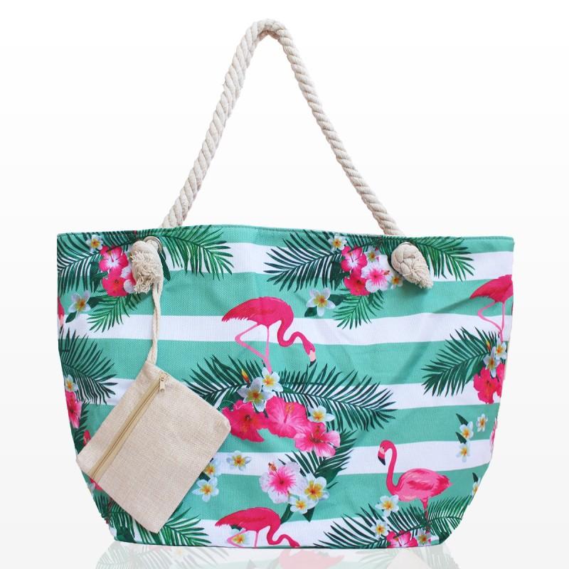Плажни Чанти с Орхидеи и Фламинго