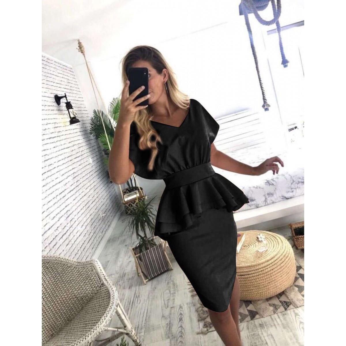 Черна дамска рокля