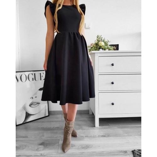 Дамска рокля в черен цвят