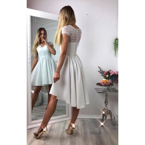 Къса дамска рокля - бяла