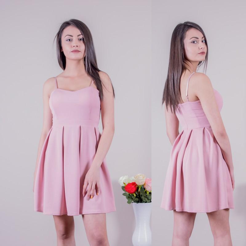 Кокетна рокля в розово