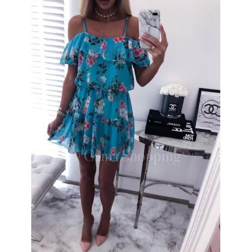 Лятна дамска рокля - синя