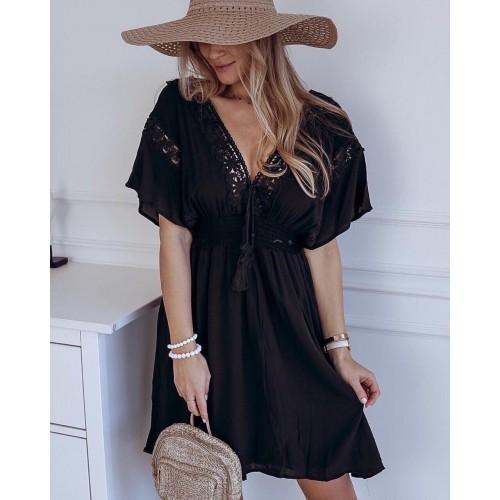 Свободна дамска рокля в черно