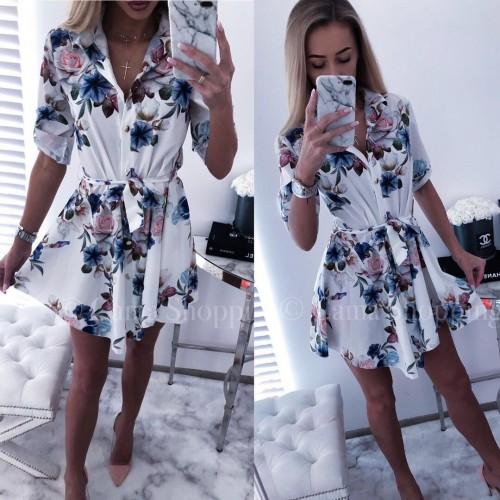 Свободна рокля тип риза
