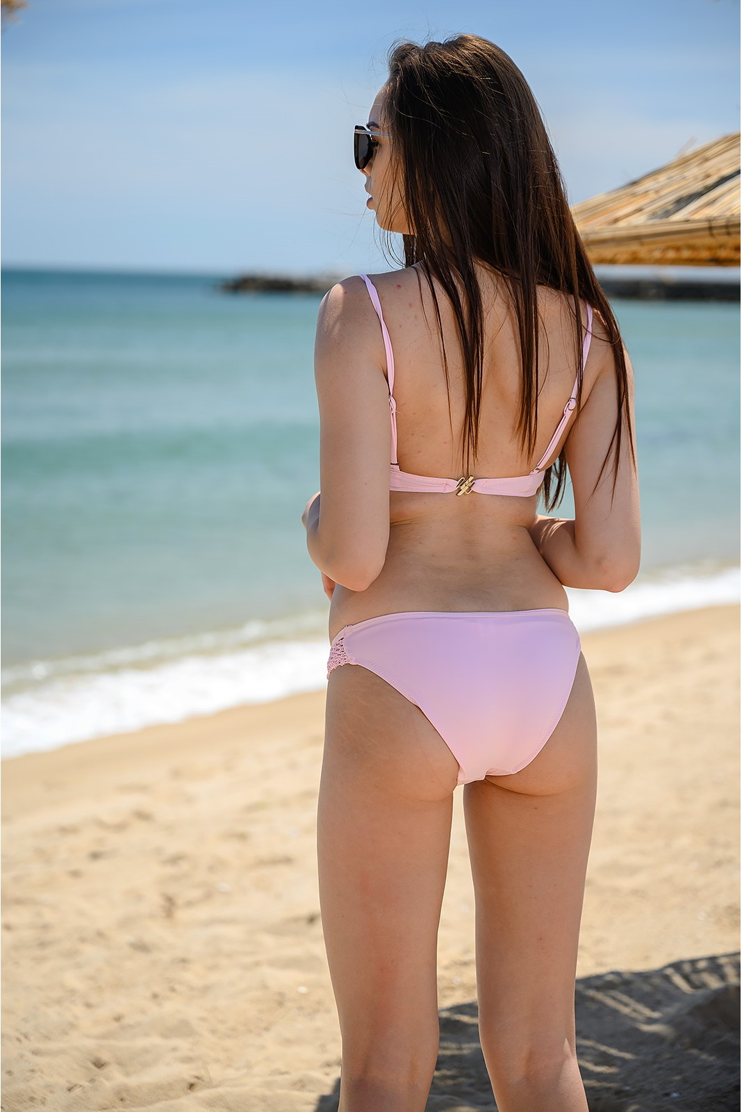 Бански костюм в розов цвят Снимка 2 от 3