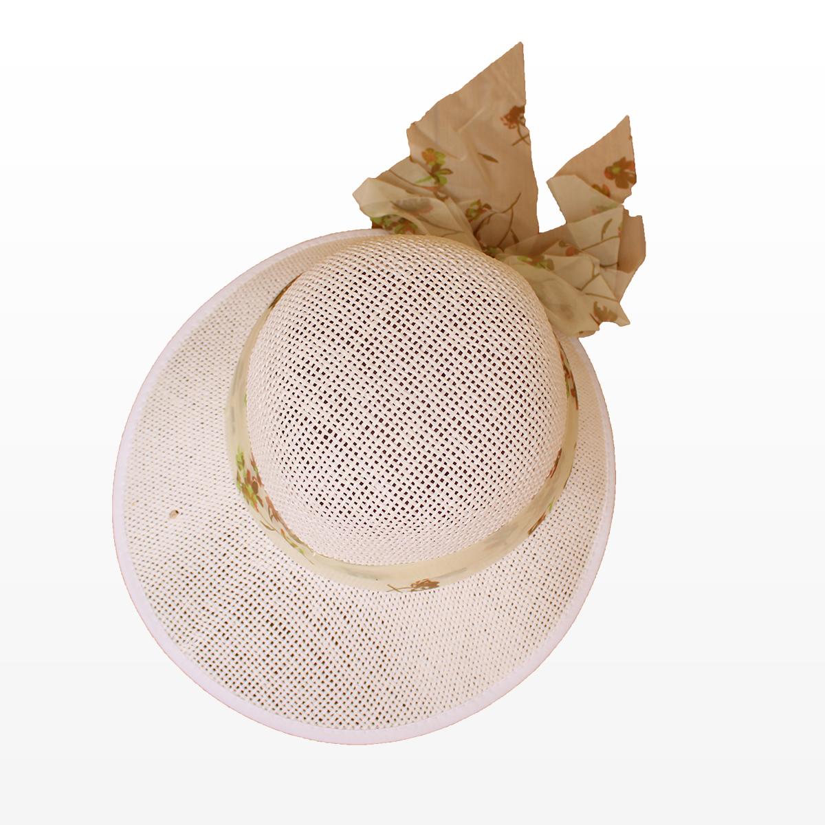 Бяла Плажна Шапка с шал