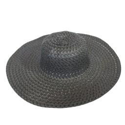 Дамска плажна шапка с голяма периферия - черна