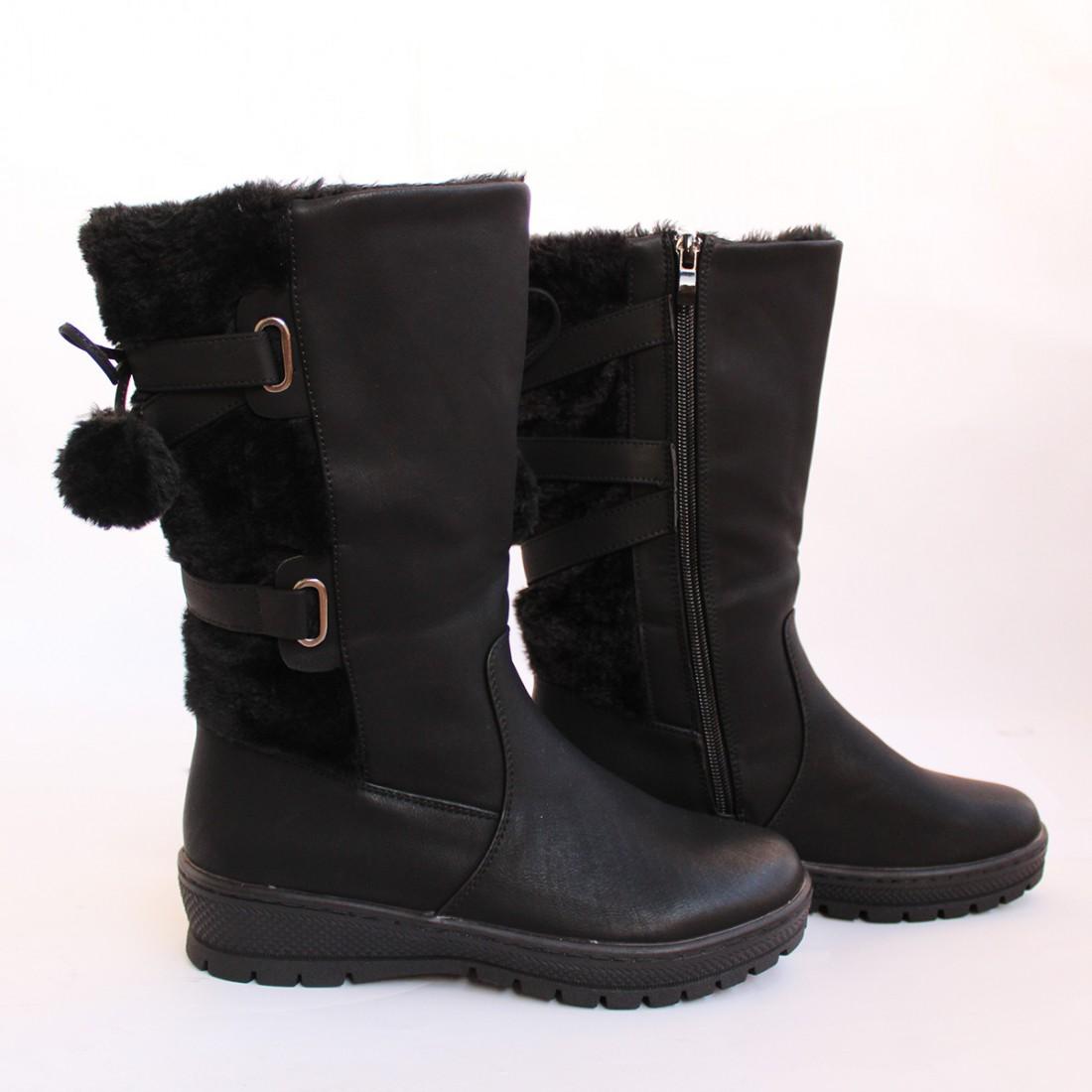 Дамски ботуши 37607-1 Черни