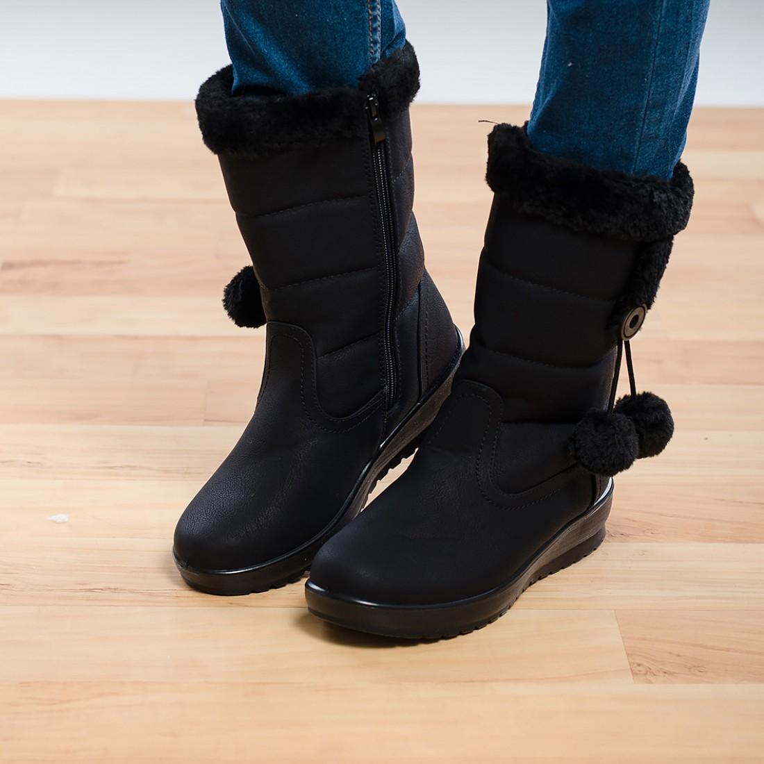 Дамски ботуши - черни