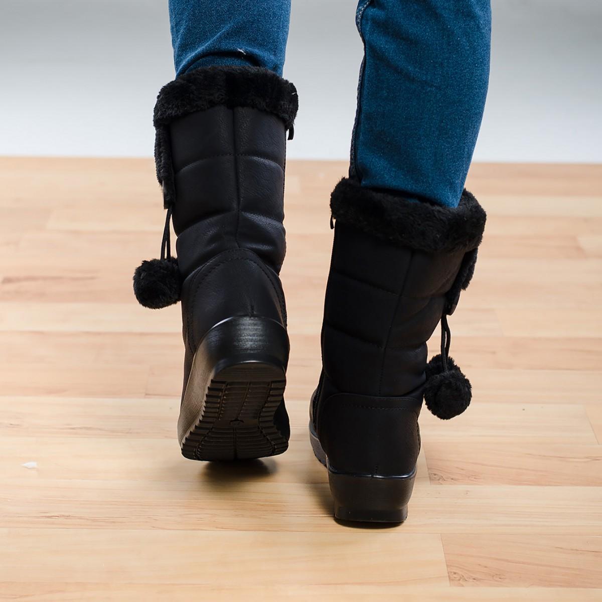 Дамски ботуши - черни Снимка 2 от 4