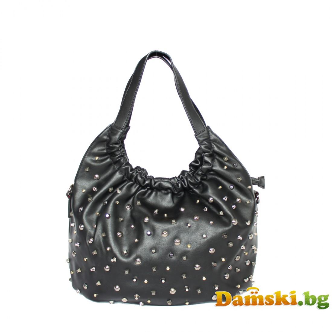 Ежедневна дамска чанта с камъни