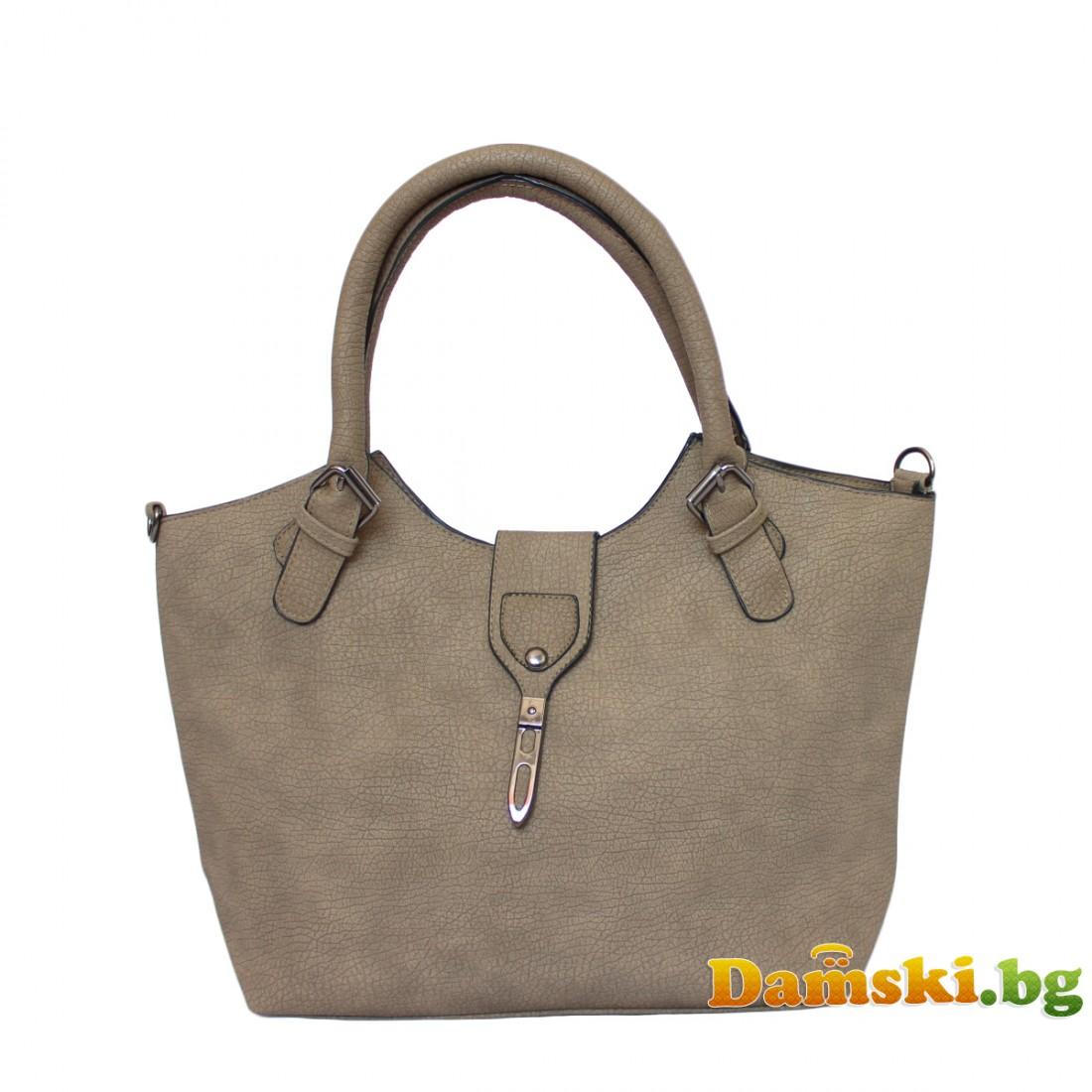 Ежедневна дамска чанта Вили - светло кафява