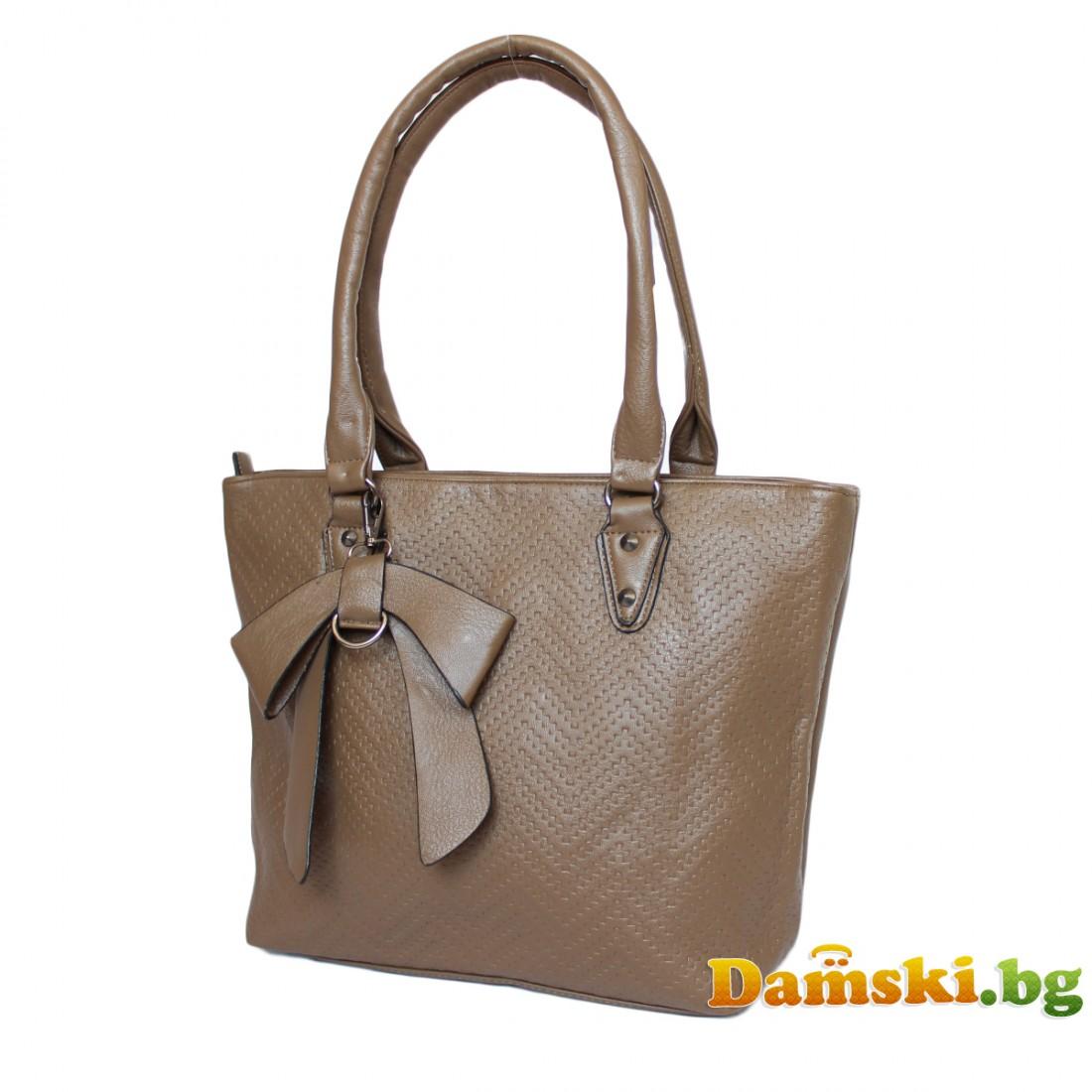 Ежедневна дамска чанта Соня - кафява