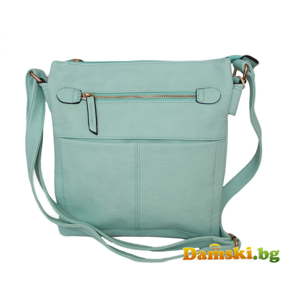 Дамска чанта през рамо Вероника - Мента
