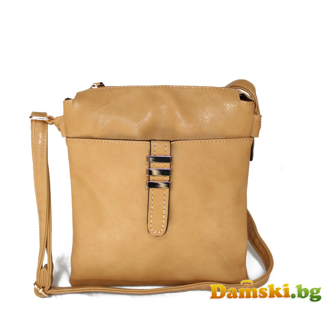 Дамска чанта през рамо - кафява