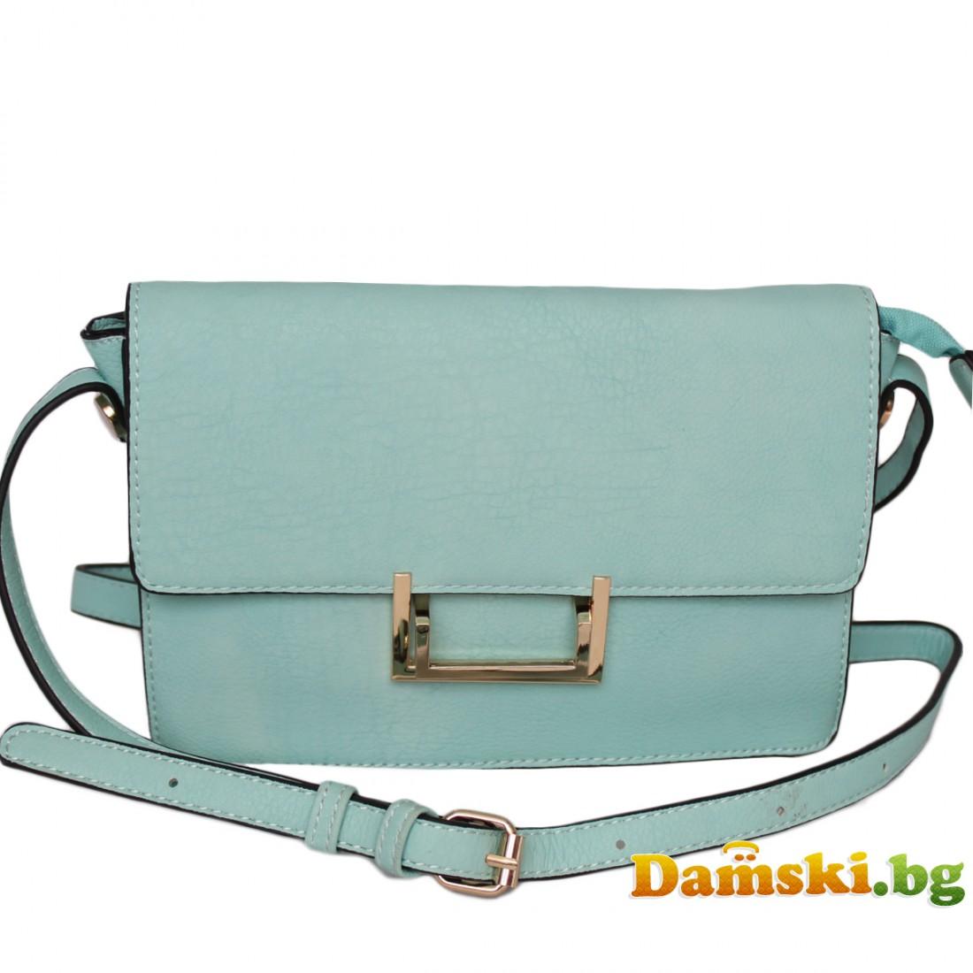 Дамска чанта през рамо - Мента