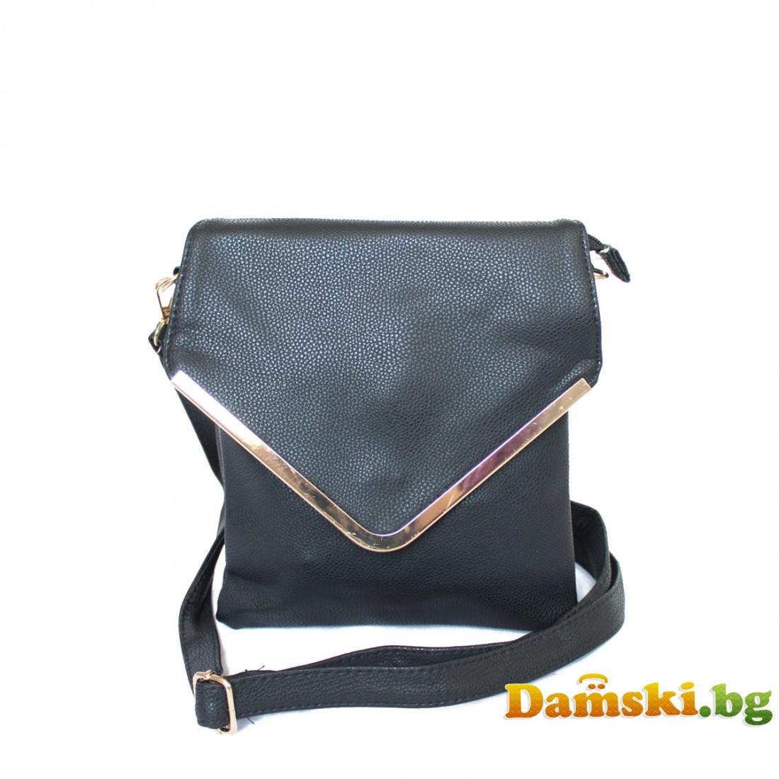 Дамски чанти през рамо Теди - черна