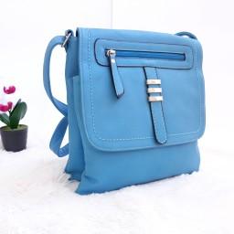 Дамска чанта през рамо - код 2826 - синя