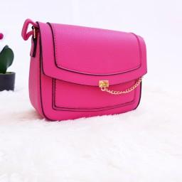 Дамска чанта през рамо - код 2832 - розова