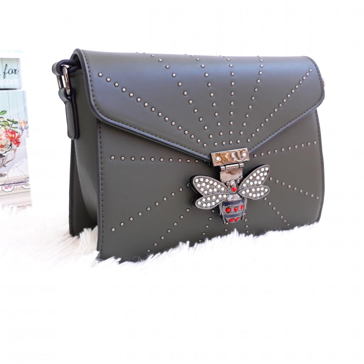 Дамска чанта през рамо - код 2833 - черна