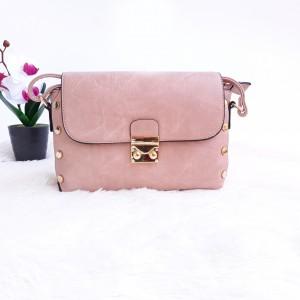 Дамска чанта през рамо - код 2879 - розова