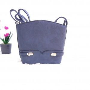 Дамска чанта през рамо - код 2880 - тъмно синя