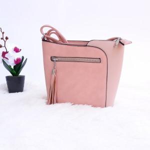 Дамска чанта през рамо - код 2881 - розова