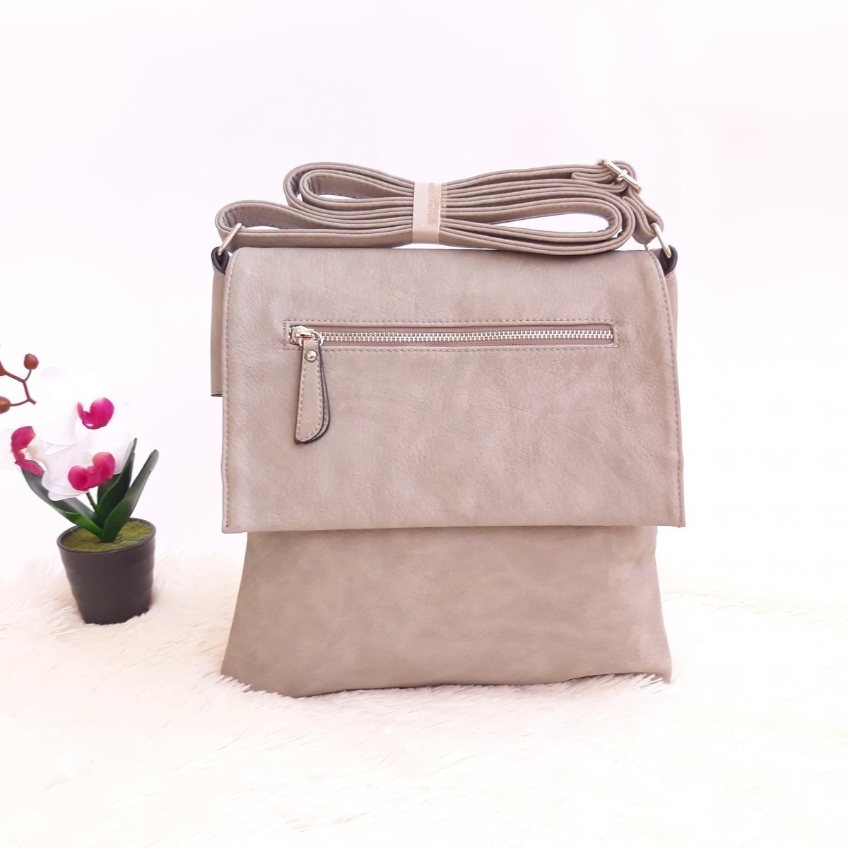 Дамска чанта през рамо - код 2910 - сива