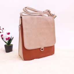 Дамска чанта през рамо - код 2911 - кафява