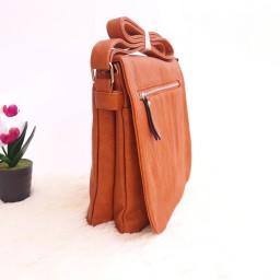 Дамска чанта през рамо - код 2932 - кафява