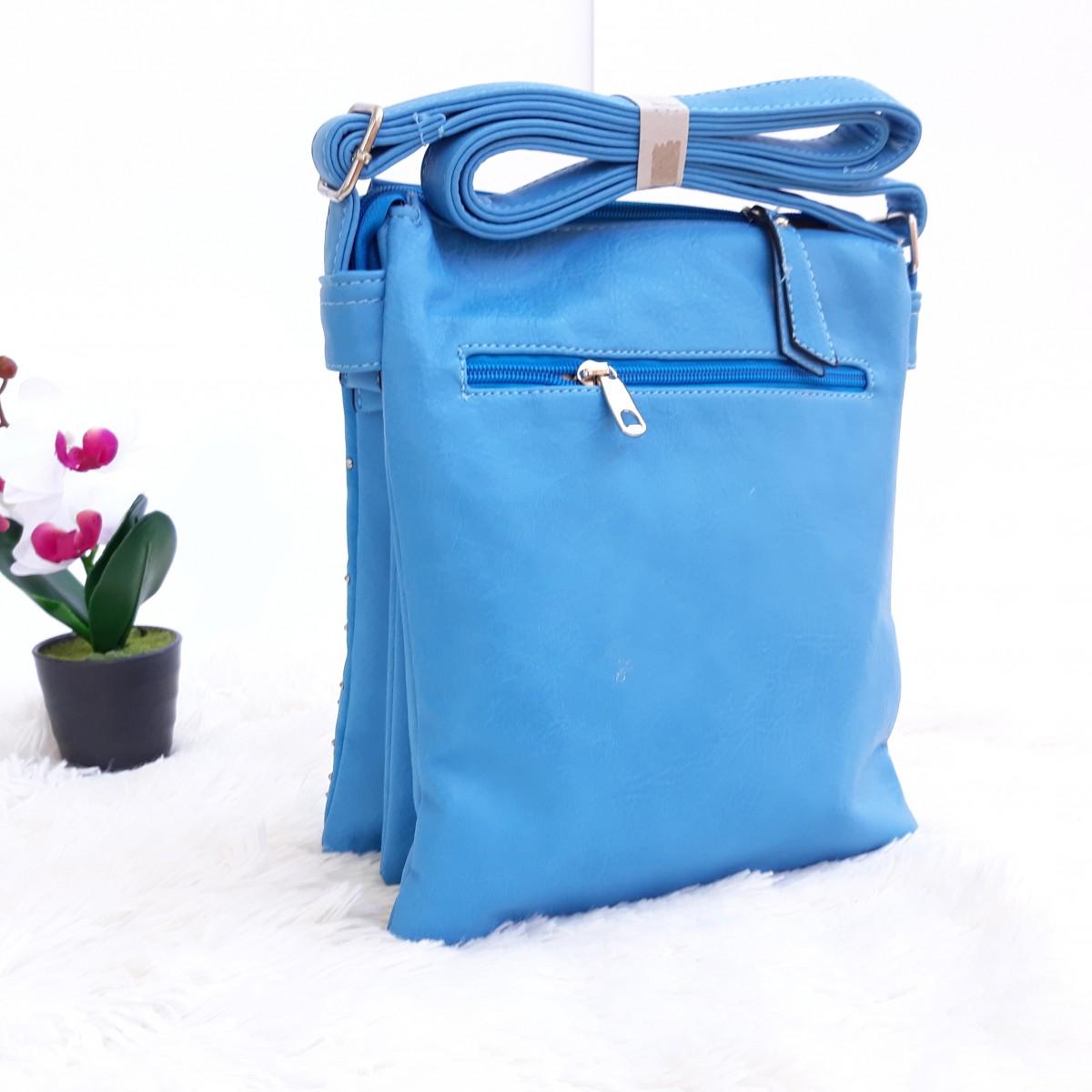 Дамски чанти през рамо в син цвят - код 2825 Снимка 2 от 2