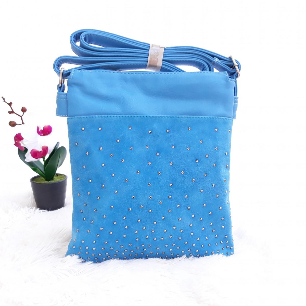 Дамски чанти през рамо в син цвят - код 2825