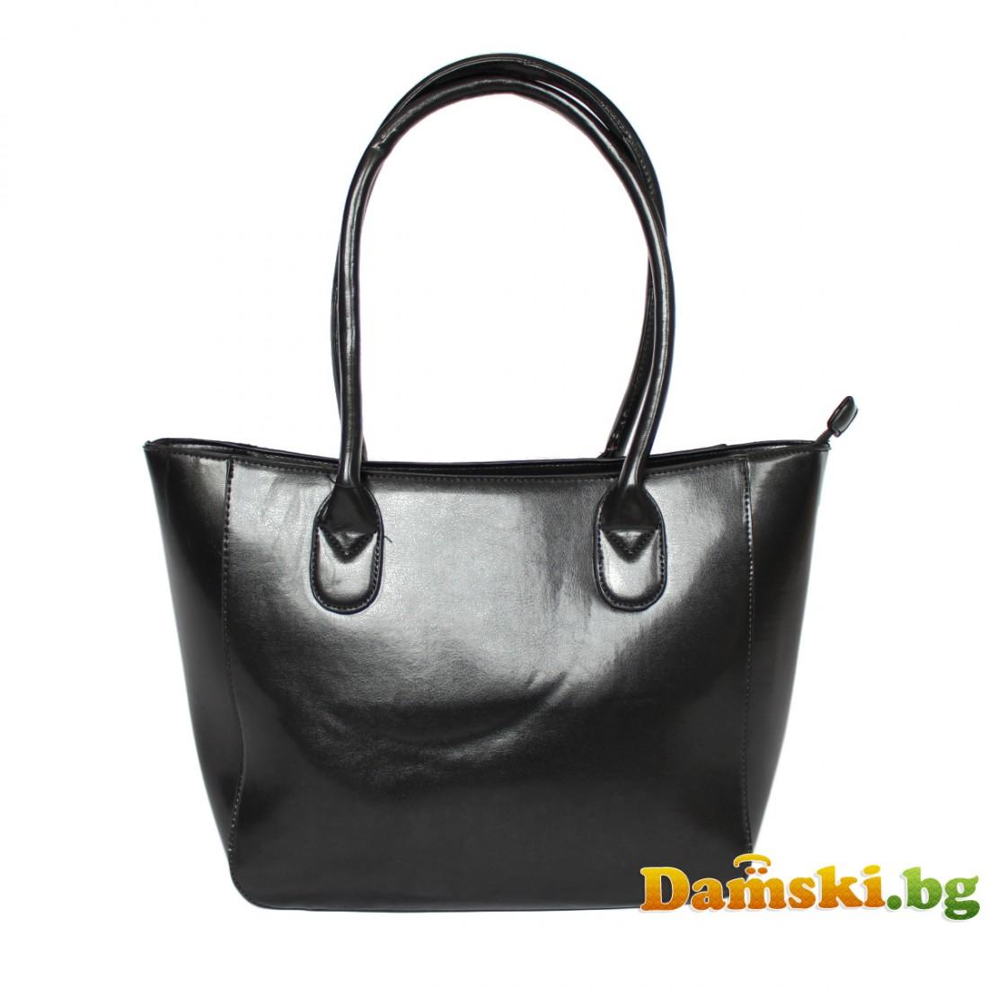 Елегантна лачена дамска чанта