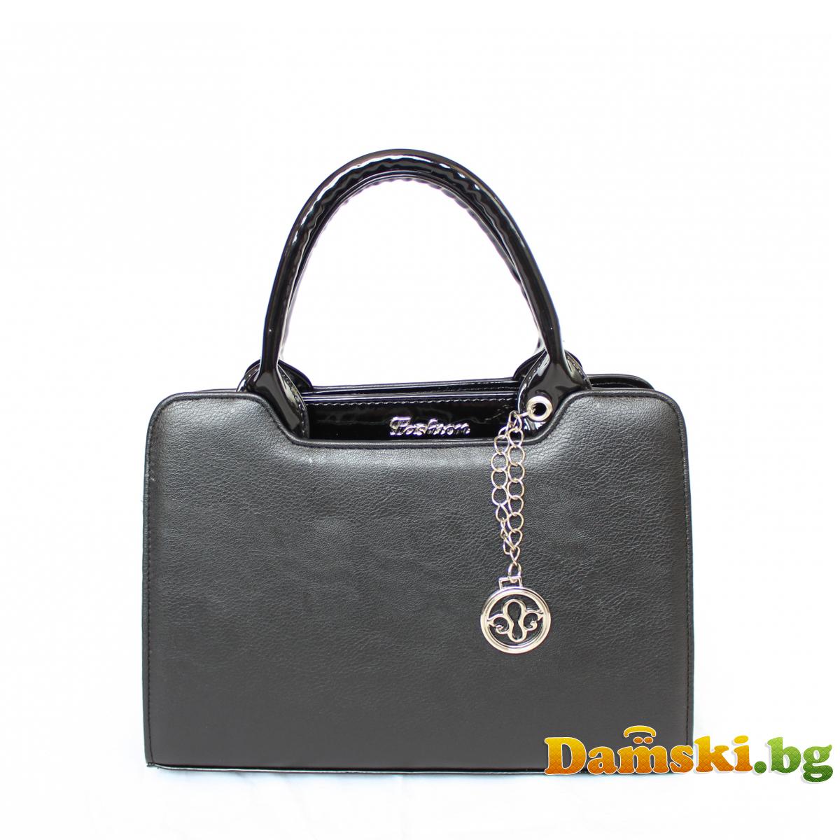 Стилна дамска чанта Хриси - черна Снимка 3 от 4