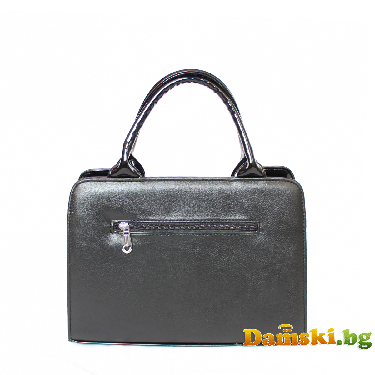 Стилна дамска чанта Хриси - черна Снимка 4 от 4