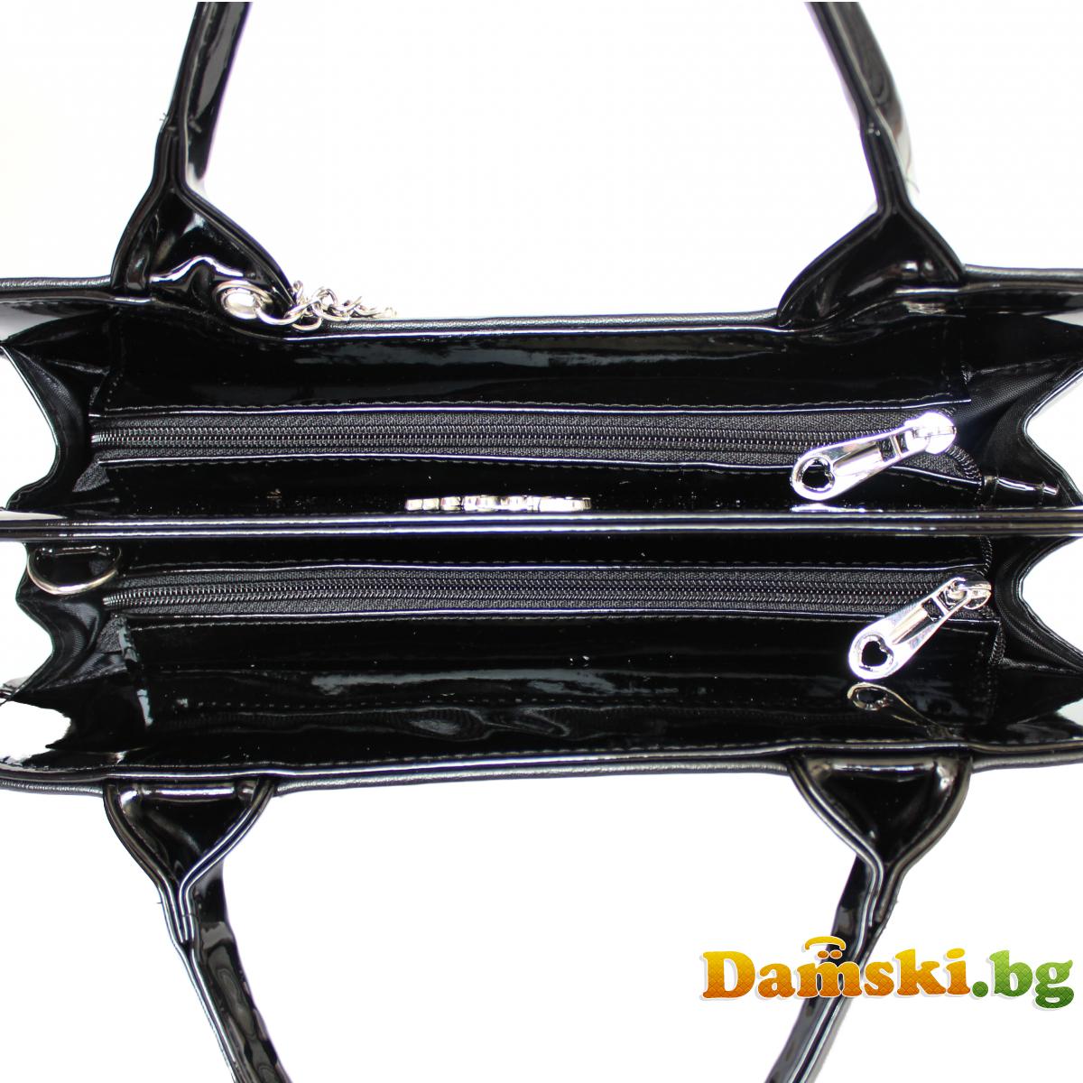 Стилна дамска чанта Хриси - черна Снимка 2 от 4