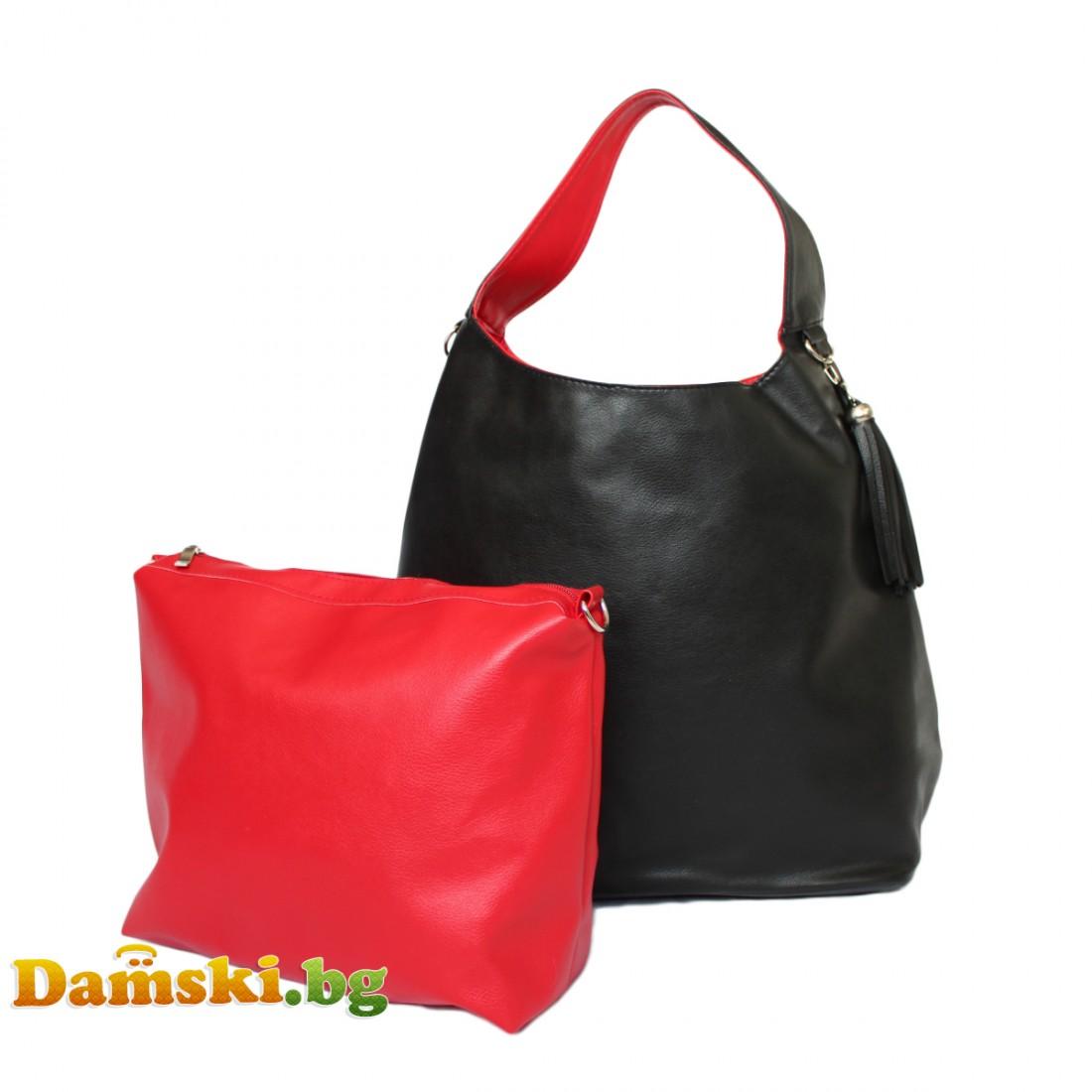 Стилни дамски чанти 2 в 1 - две лица