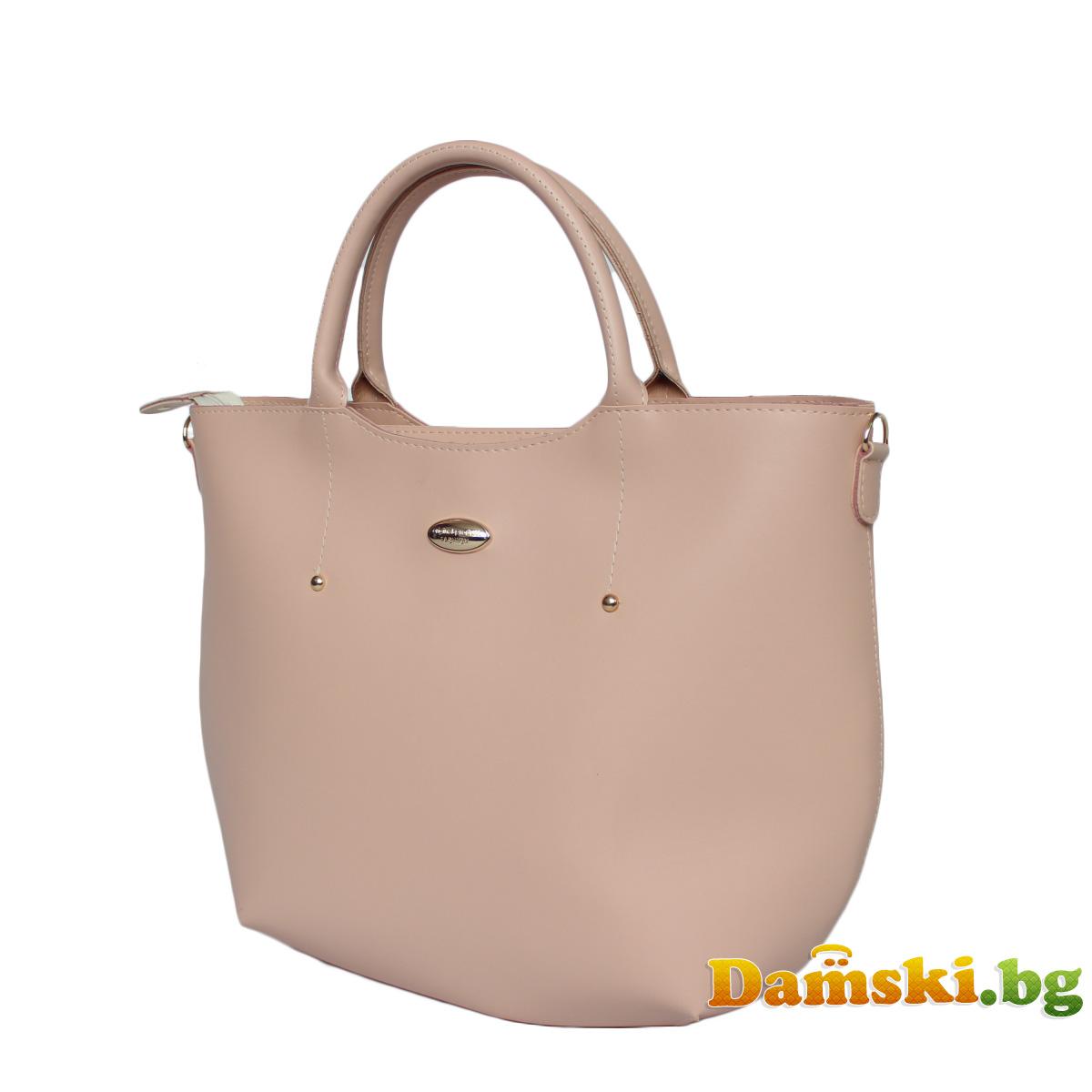 Елегантна розова дамска чанта Ина Снимка 3 от 3
