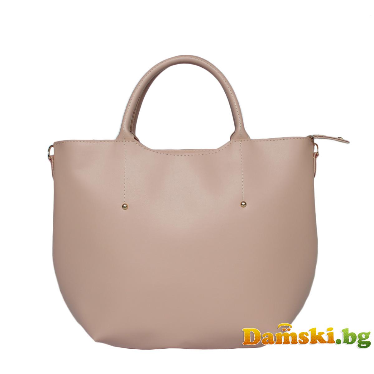 Елегантна розова дамска чанта Ина Снимка 2 от 3