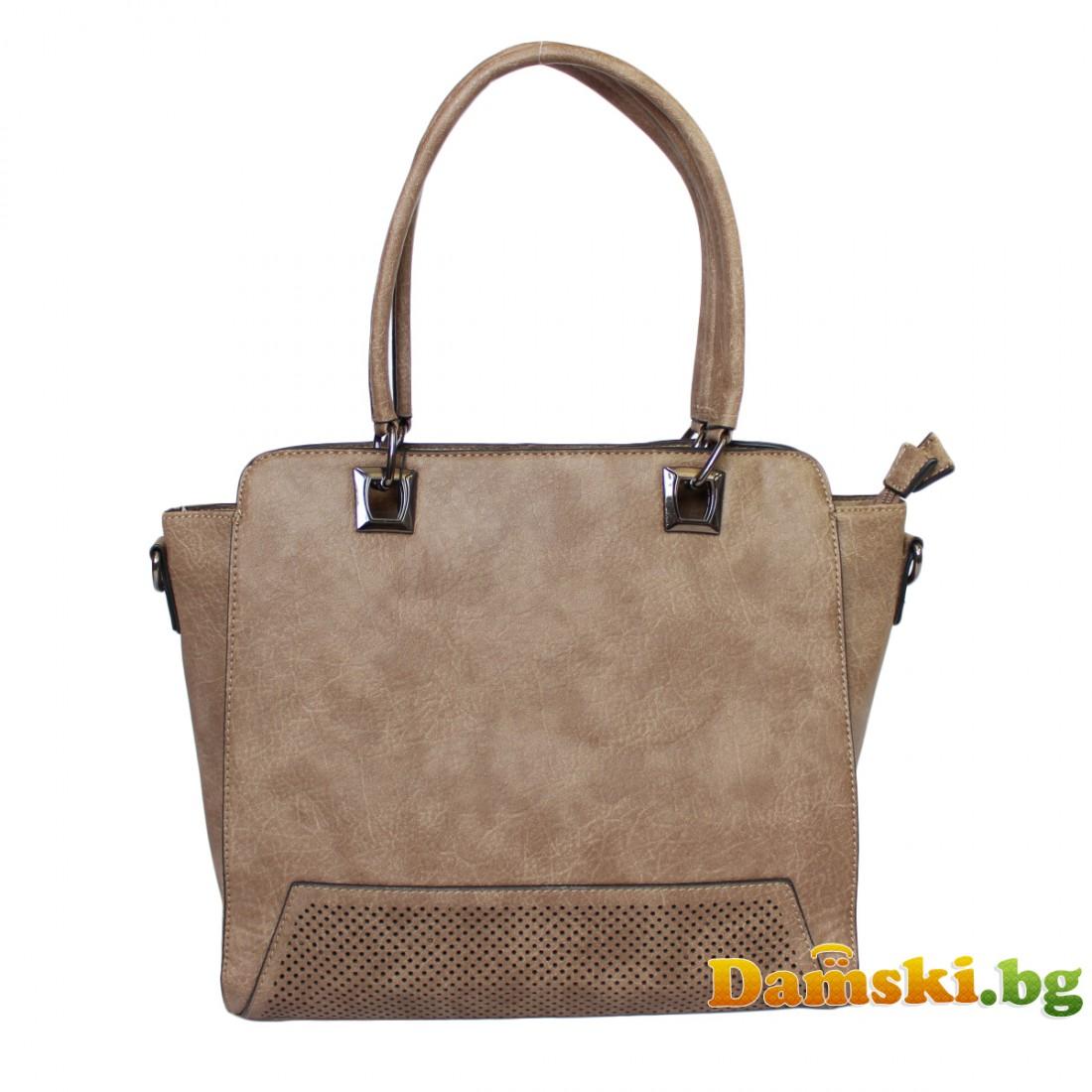 Елегантна кафява дамска чанта Вили