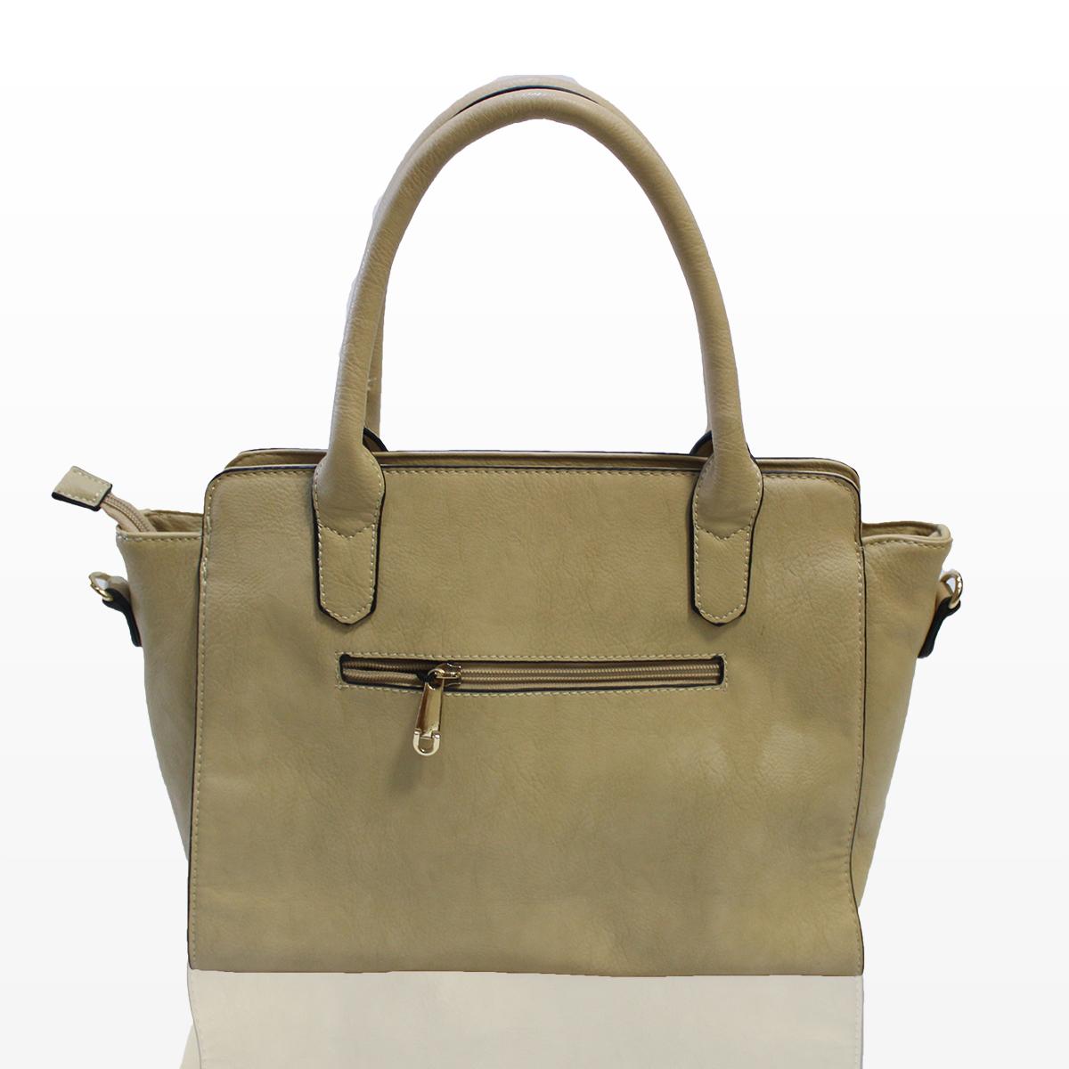 Дамска чанта - кремава Снимка 2 от 2