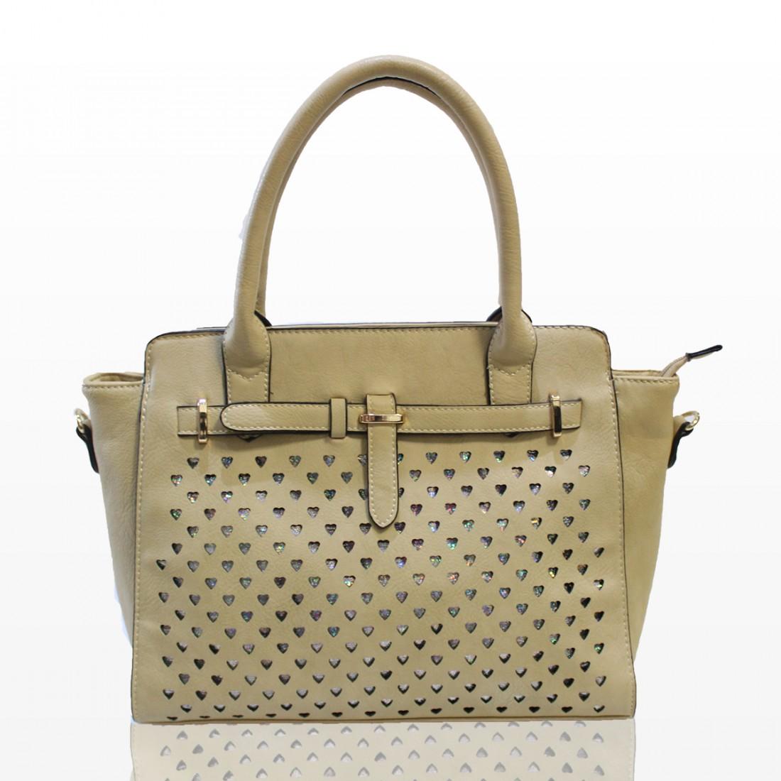 Дамска чанта - кремава