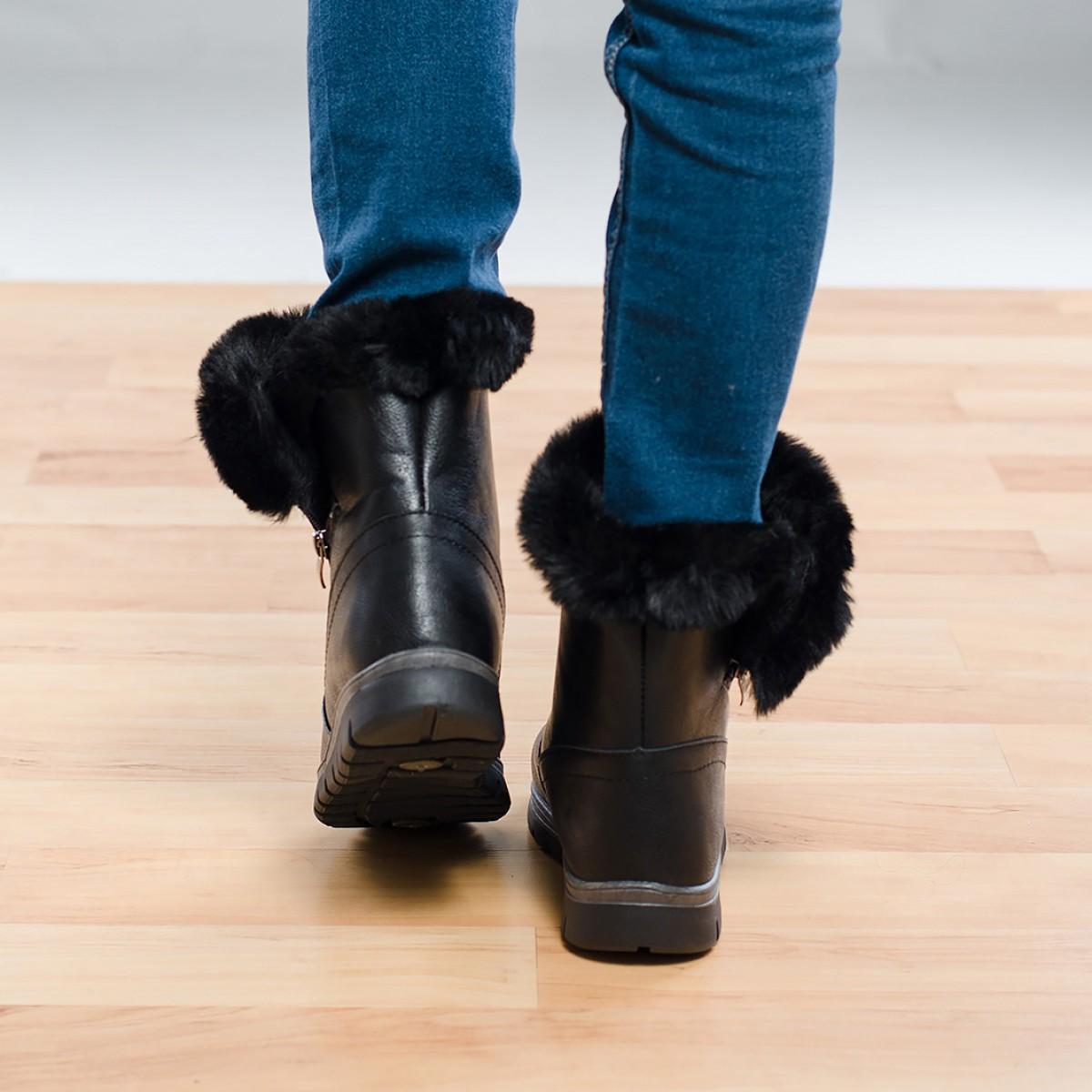 Ежедневни дамски ботуши - Черни Снимка 2 от 4