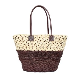 Голяма Плажна Плетена Чанта