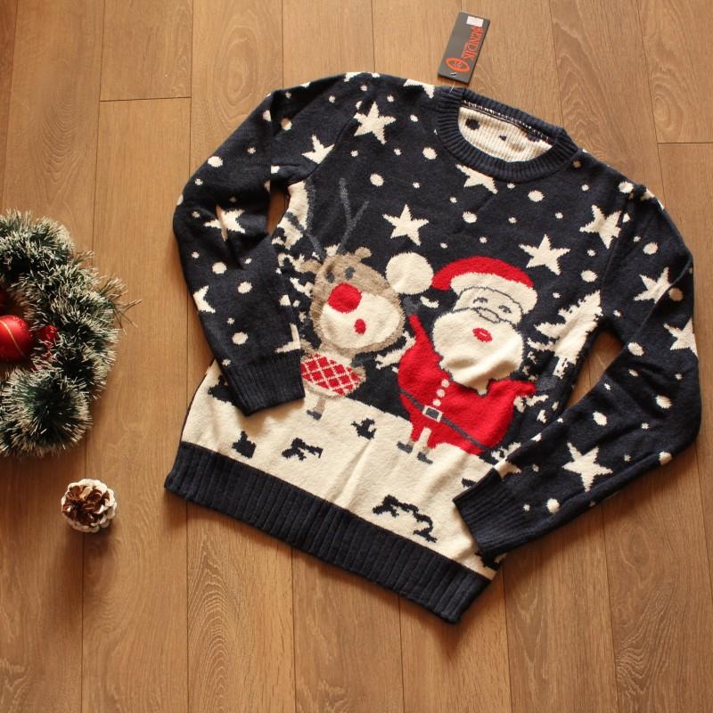Коледен Пуловер - Тъмносин
