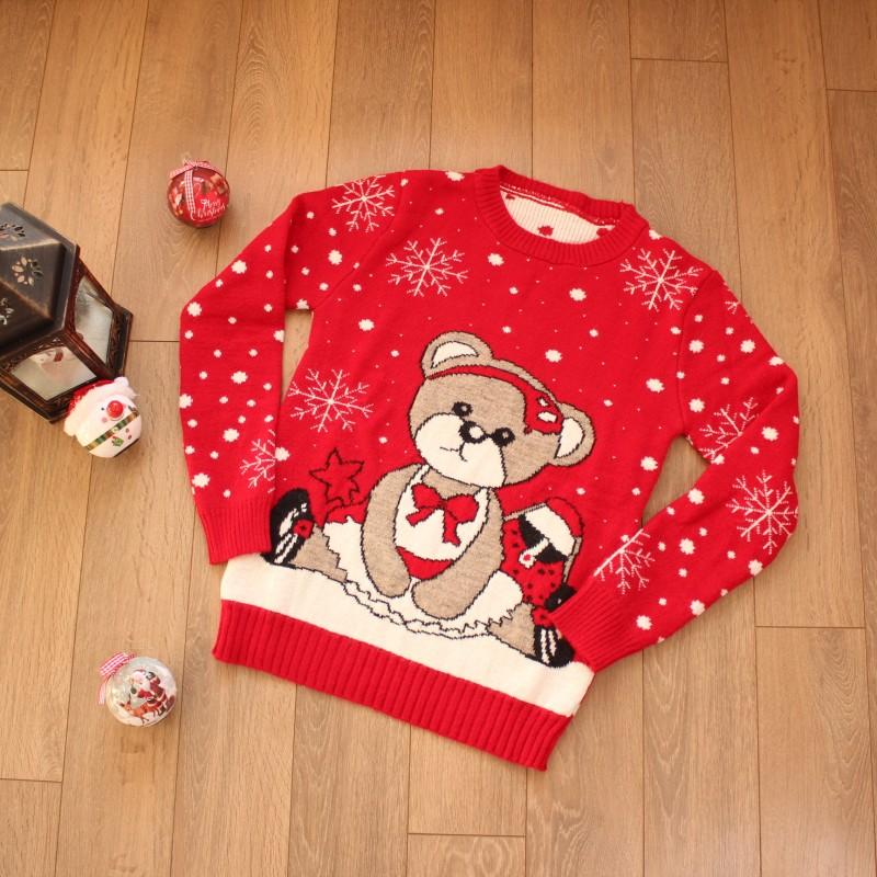 Коледни Пуловери - Код 3754