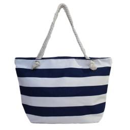 Плажна чанта на рае тъмно синя