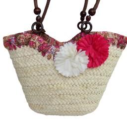 Плажна чанта с цветя