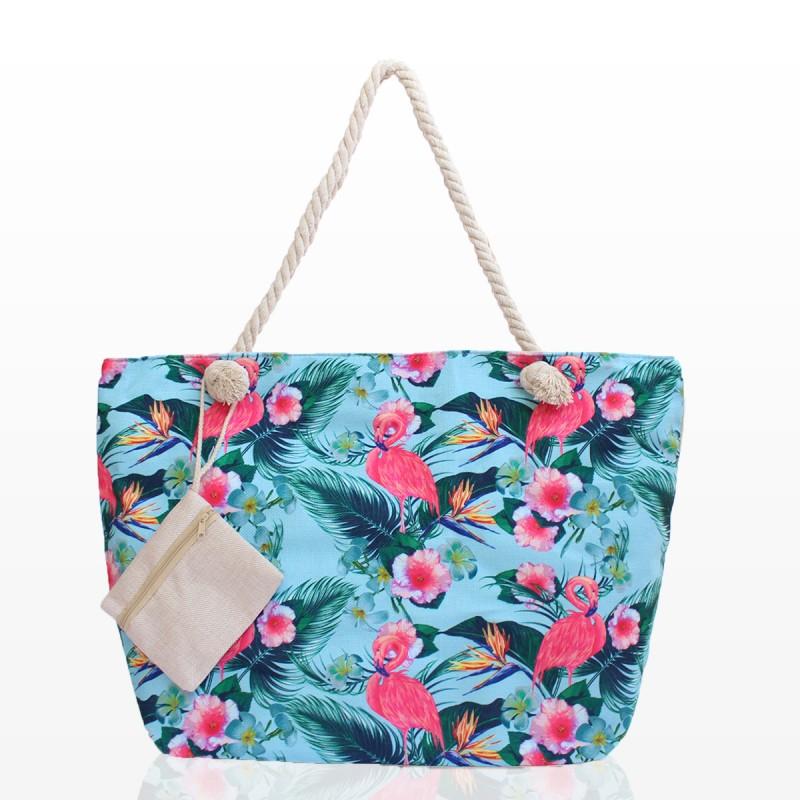 Плажна Чанта с Фламинго - Код 3196