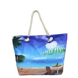 Плажна чанта с принт